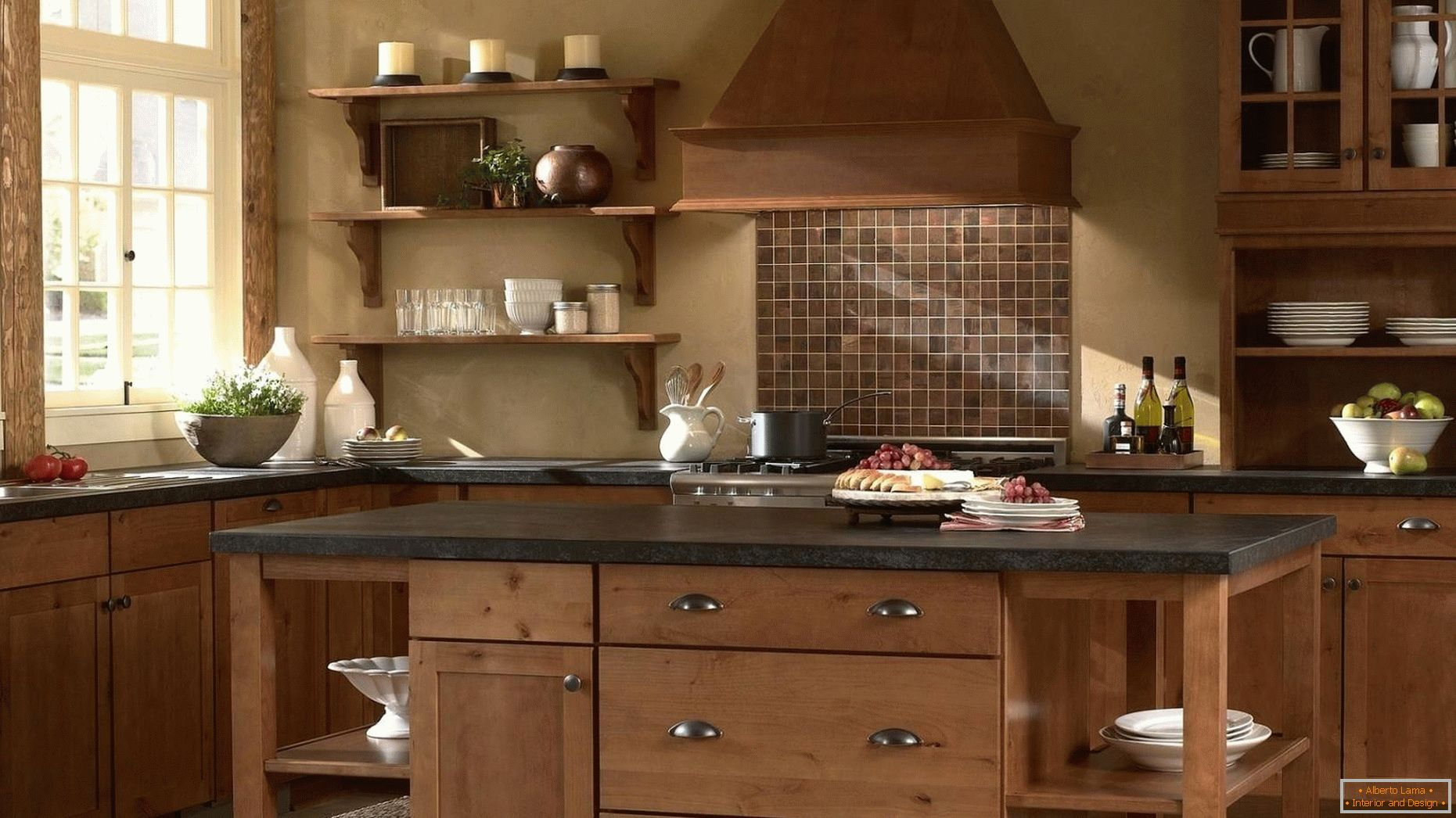 Kitchens made of wood are classic!