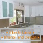 Kitchen in white color