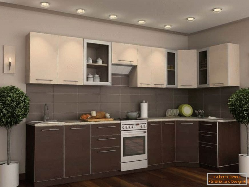 The kitchen of their lower wenge facades and the upper ivory