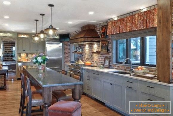 Which is better to choose curtains in the kitchen in the style of country