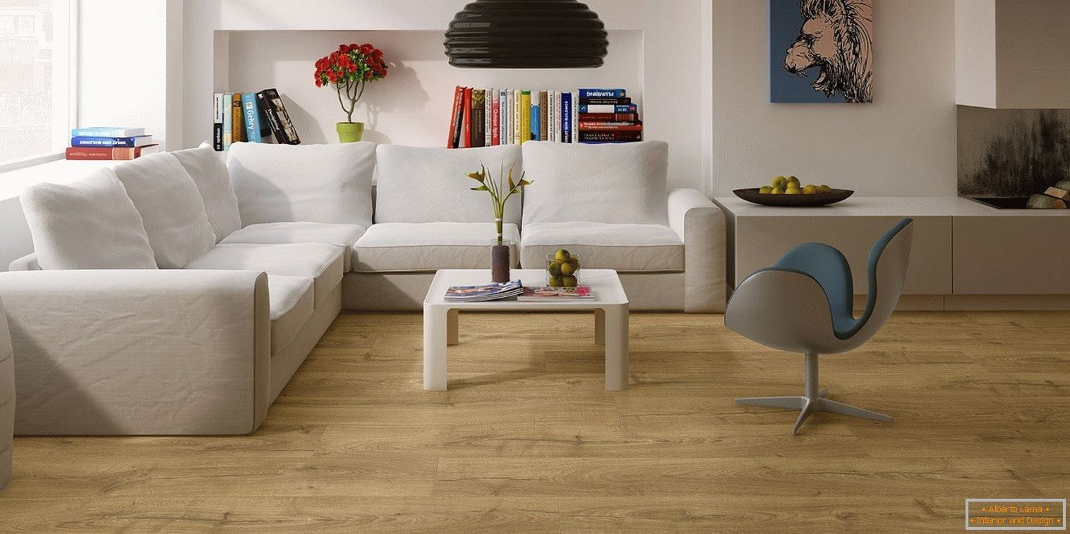 Laminate in the living room