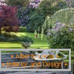 English style in landscape design
