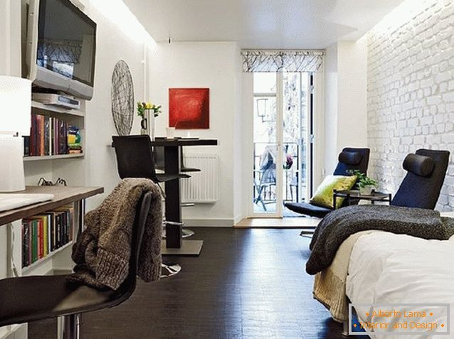 Studio apartment design in Switzerland