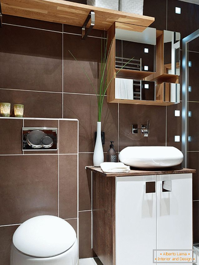 Bathroom studio apartment in Switzerland