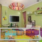 Colorful chandelier for a children's room