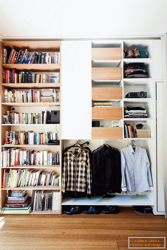 Wardrobe for books and clothes
