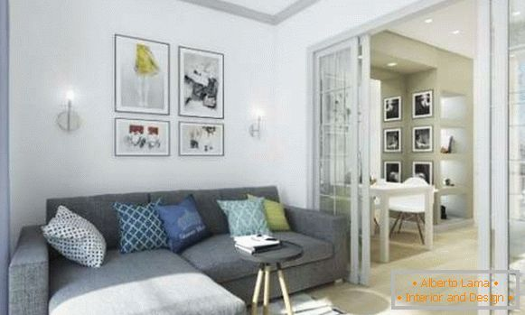 Small studio apartments: 40 photos in modern style