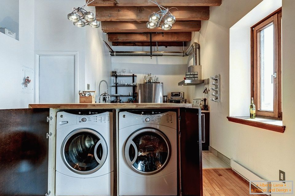 Laundry in the kitchen island