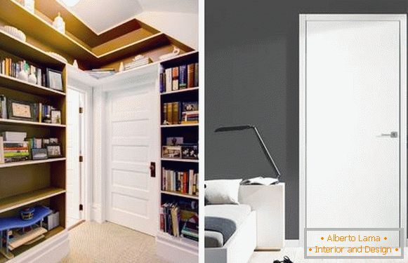 White doors in the interior - photos of rooms