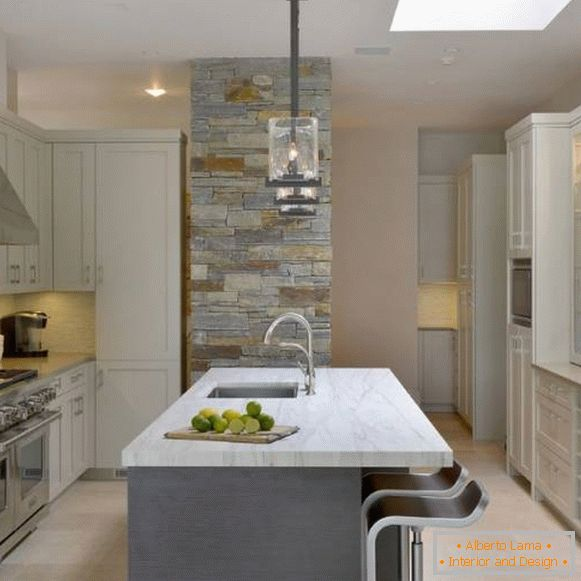 Kitchen design 2018 photos - new furniture and a comfortable island