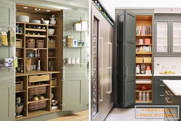 Wardrobe in the kitchen design - trend 2018