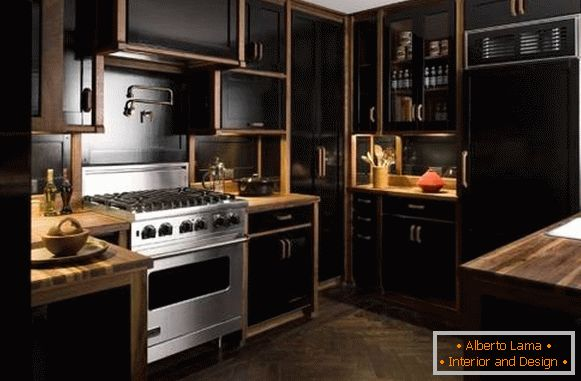 Kitchen design 2018 - photos of new items in black