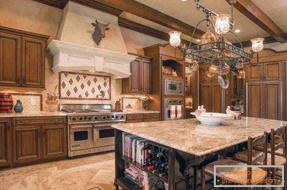 Kitchen design 2018 in classic style