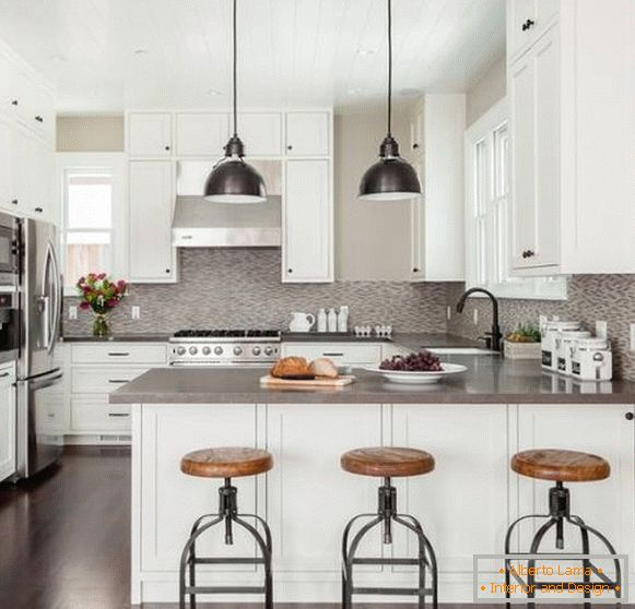 Fashion trends in kitchen design 2017 - dark metal in the style of industrial