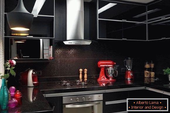 Design of the kitchen in 2018 in black