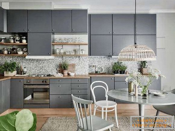 Design of the kitchen in 2017 in gray