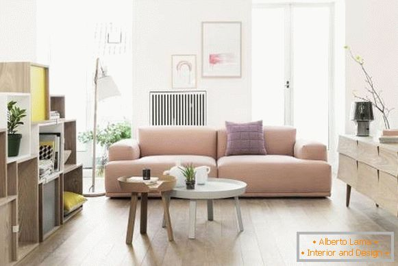 Fashionable colors in the interior of 2017 - a shade of pale cornel