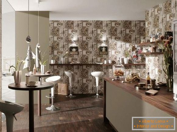 inexpensive washable wallpaper for the kitchen photo, photo 10