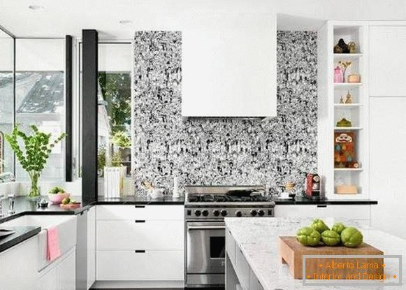 washable wallpaper for kitchen, photo 15