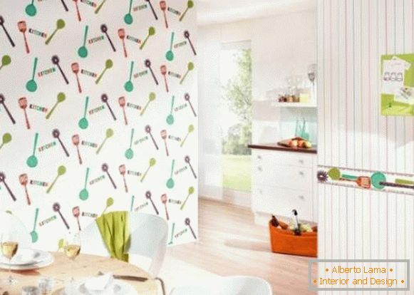 недорогие washable wallpaper for the kitchen photo, photo 24