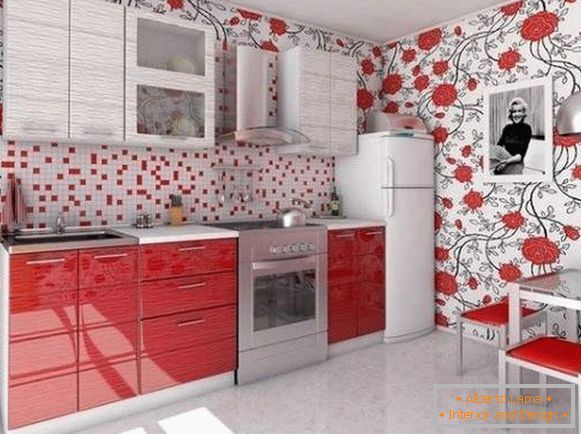 cheap washable kitchen wallpaper, photo 37