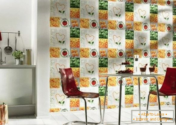 washable wallpaper for kitchen, photo 43