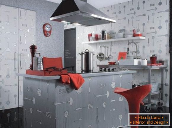 catalog of washable wallpaper for kitchen, photo 46