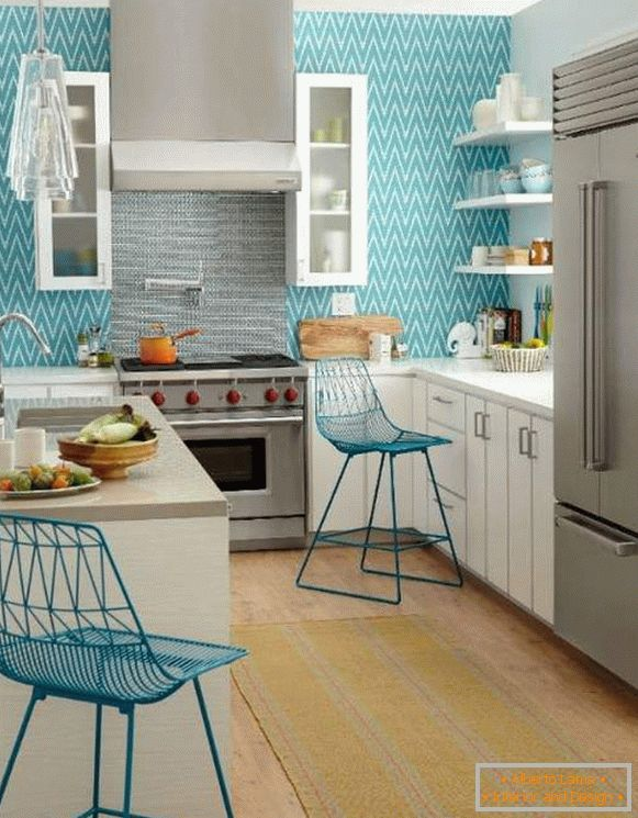 wallpaper washable for kitchen leroua, photo 5