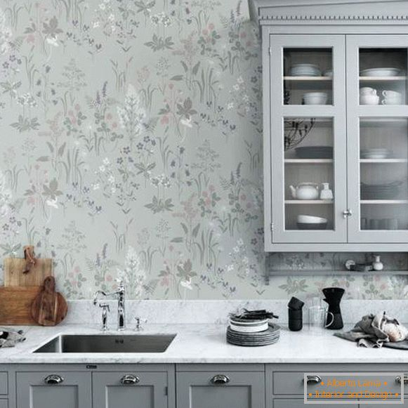 cheap washable kitchen wallpaper, photo 51