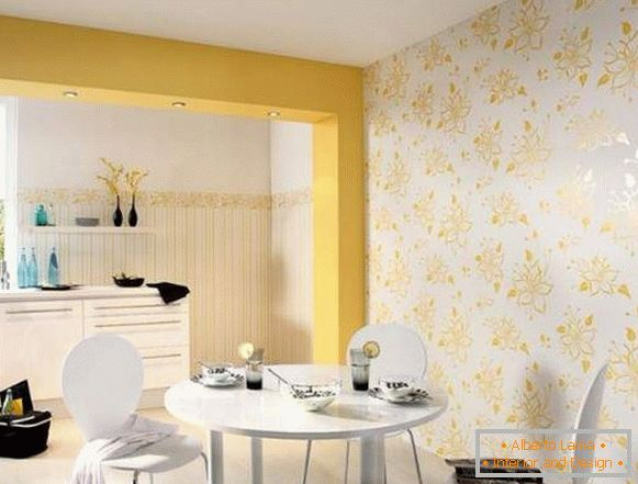 buy wallpaper washable for the kitchen photo, photo 56