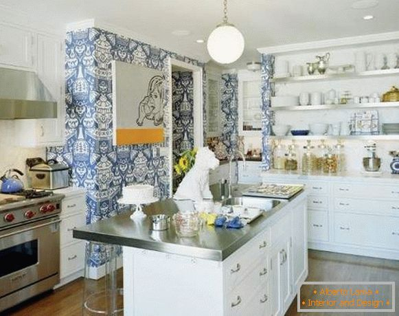 washable wallpaper for kitchen, photo 57