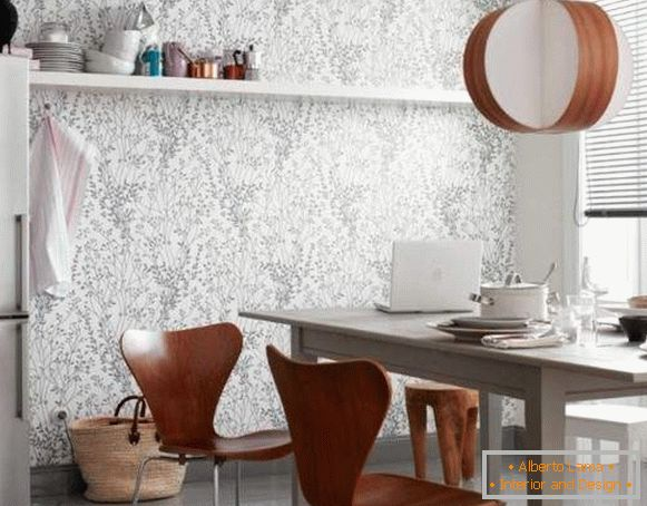 catalog of washable wallpaper for kitchen, photo 60