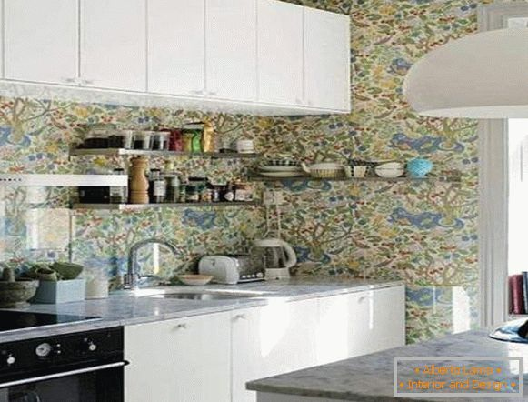 wallpaper for kitchen washable catalog leroua, photo 69