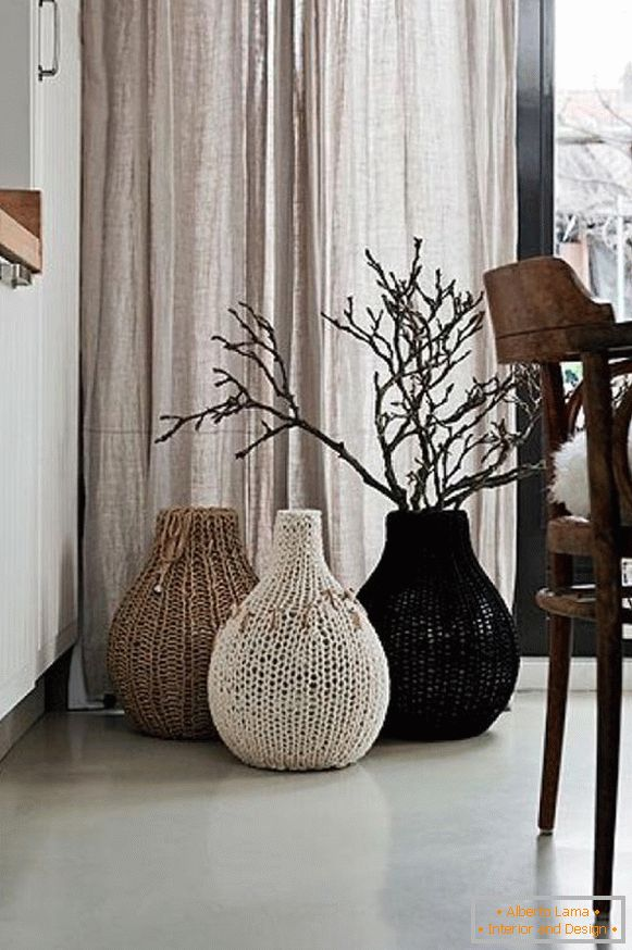 Knitted Cases for a Vase