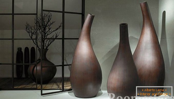 Unusual form of vases