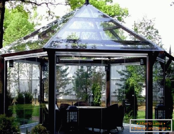 Sheds of polycarbonate in a private house photo, photo 24