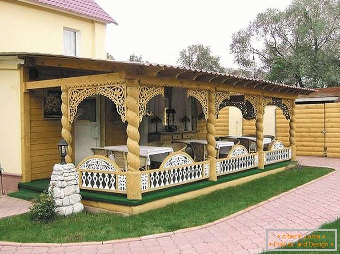 деревянные awnings in the courtyard of a private house photo, photo 18