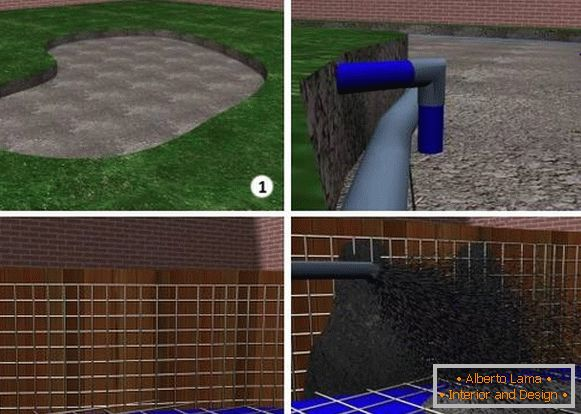 How to build a pool by yourself - ready projects with photos