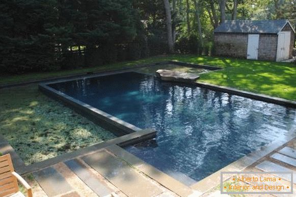 Photo of pools in the courtyard of private houses - concrete pool