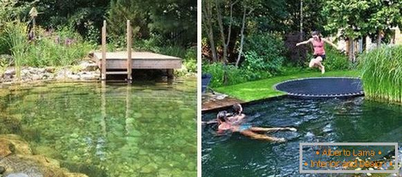 Swimming pool or swimming pool in the country - photo
