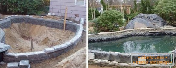 How to build a pond in the country with their own hands - projects of swimming pools with photos