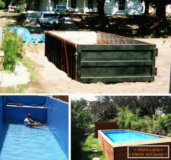 Metal swimming pool in the country with their own hands - photo instruction