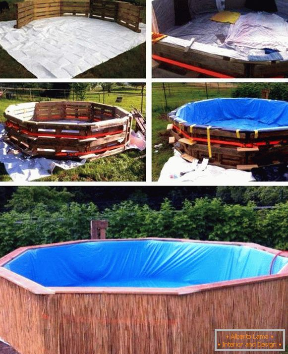 Design of a pool for a summer residence or a yard with your own hands