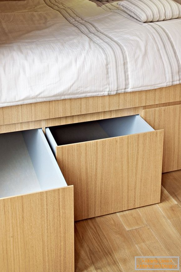 Storage systems in the design of a tiny apartment