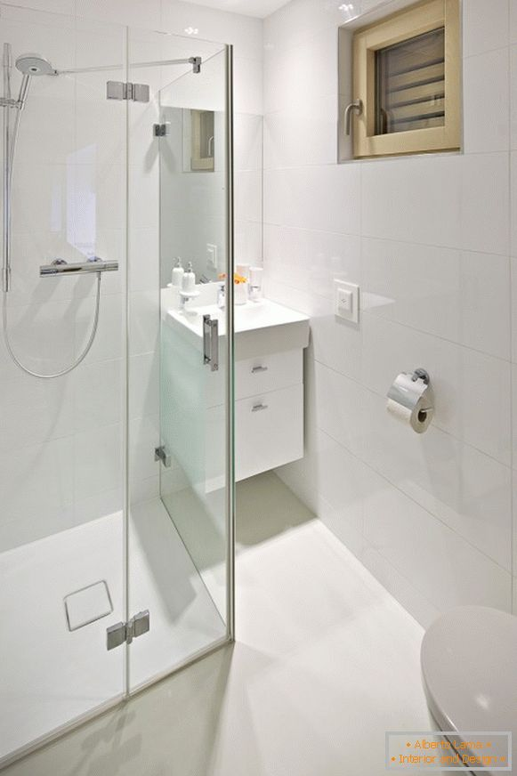 Bathroom design in a tiny apartment