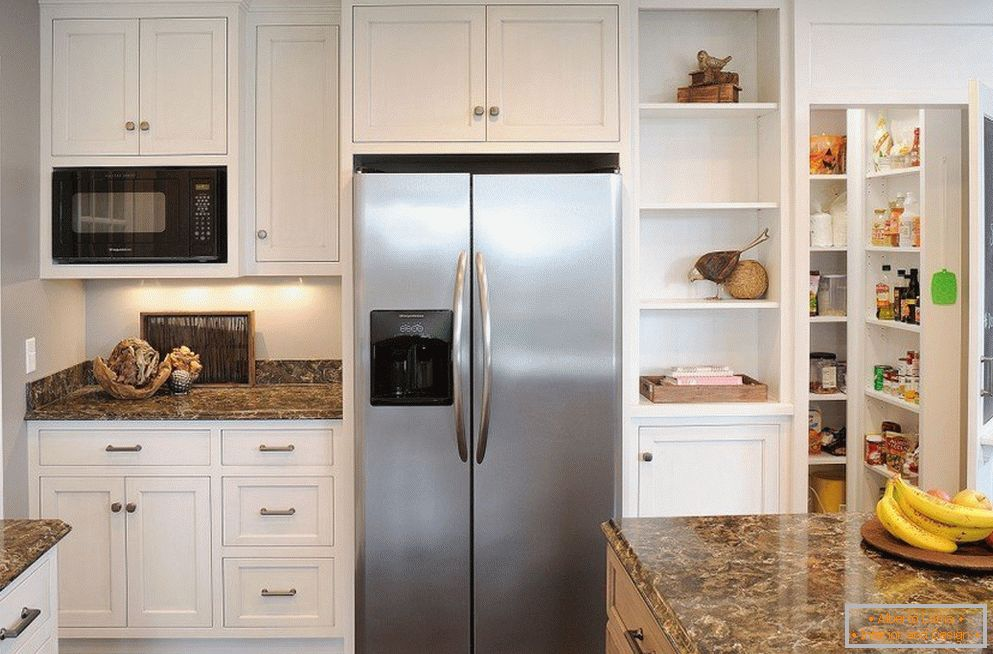 Niche for home appliances in the interior