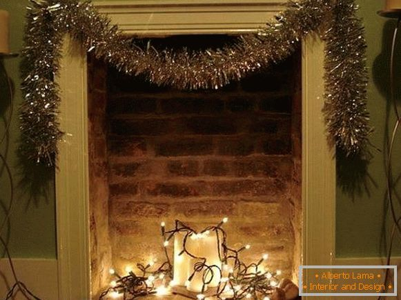 Garland LED led - imitation of fire in the fireplace for the New Year