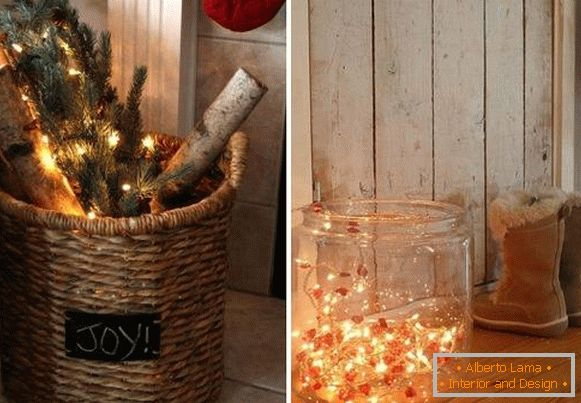 New Year LED garlands - unusual decor for home