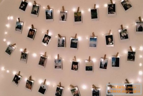 Garland LED White - Wall decoration ideas for the New Year