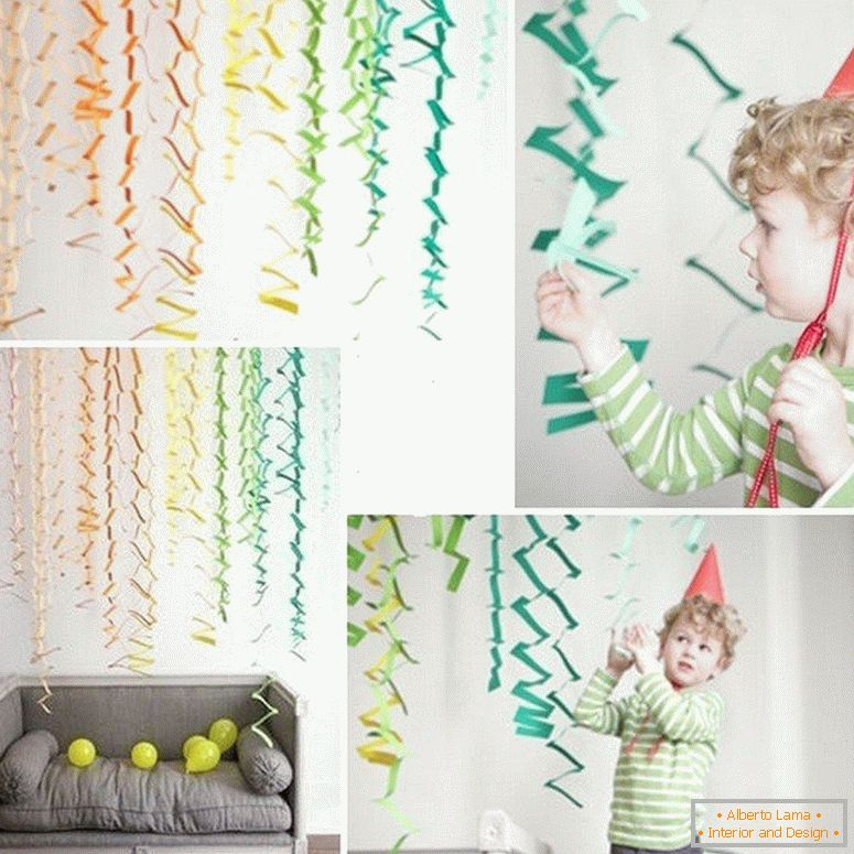 Garland on the wall
